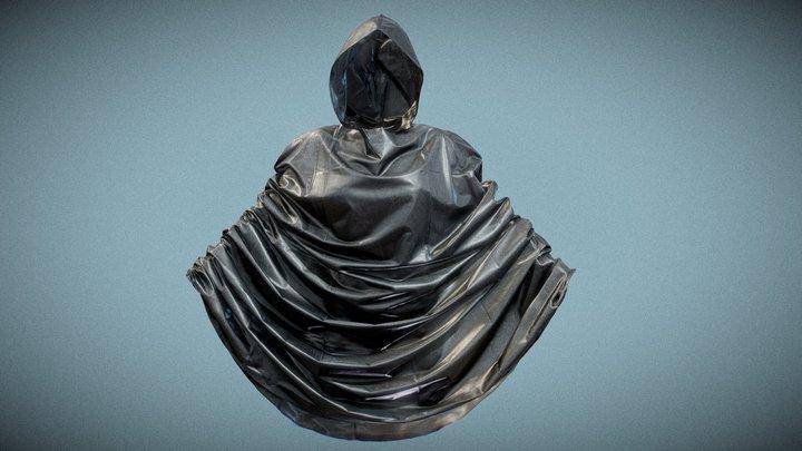 Black Bike Raincoat 3D Model