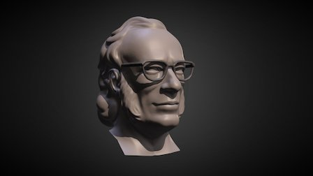 Bust of Isaac Asimov 3D Model
