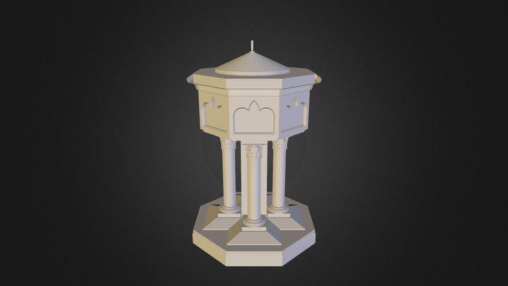 Baptismal Font 3D Model