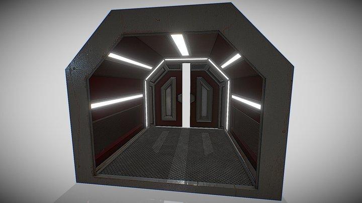 Future Hallway - 001 3D Model