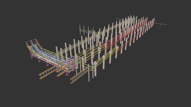 Кабельная трасса 3D Model