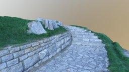 Portsmouth Coast Rocks & Steps (Photogrammetry) 3D Model