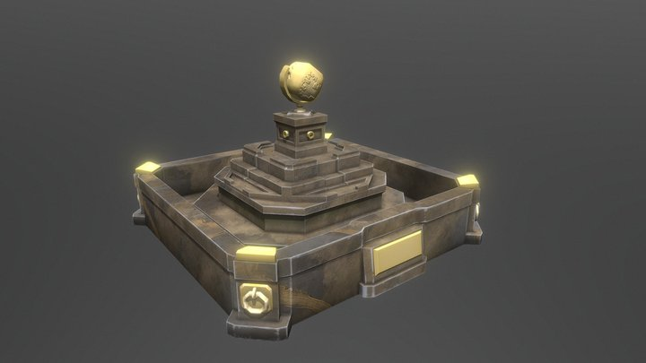 Ashlar Stone Fountain 3D Model