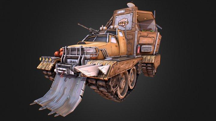 Snail Truck 3D Model