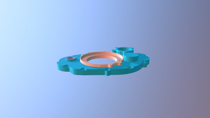 SR400 dry clutch cover 3D Model