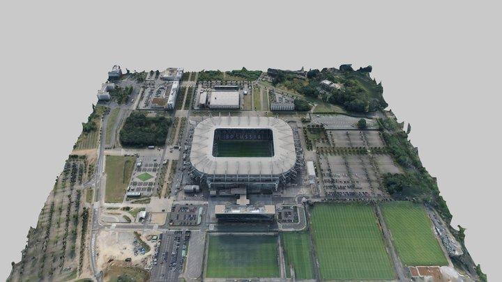 Borussenpark Borussia Mönchengladbach Stadion 3D Model