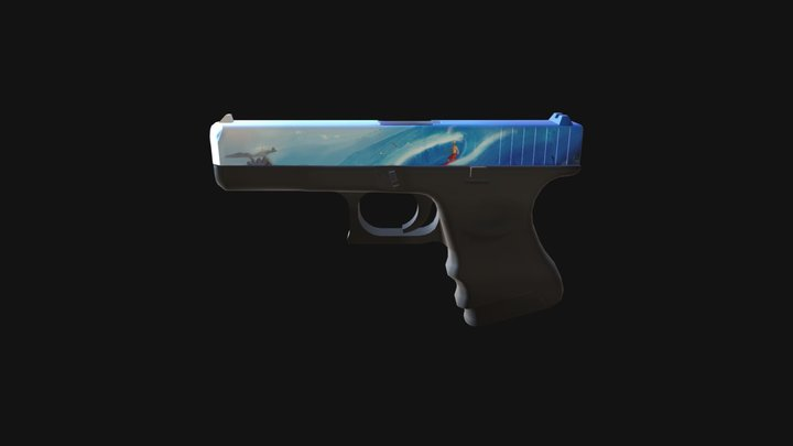Glock 18 Tidal Wave 3D Model