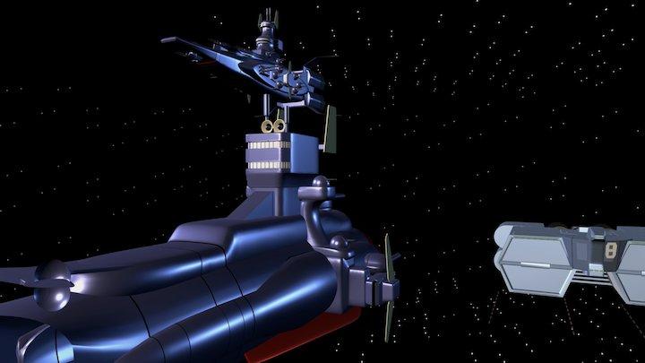 Gundam The Origin Federation Ships 3D Model