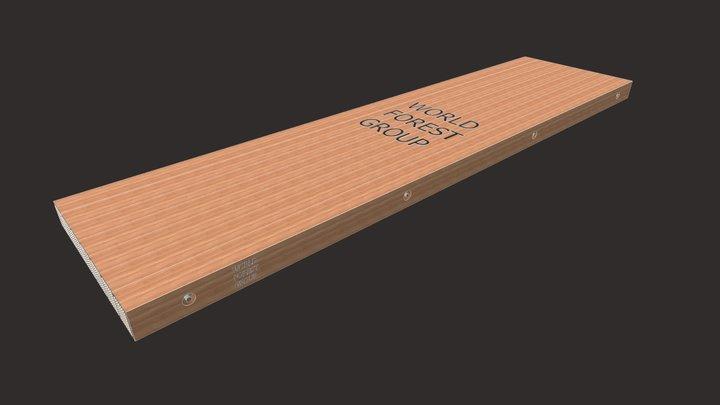 "6.75""x48""x16' No Notch Eucalyptus Hardwood Mats 3D Model"