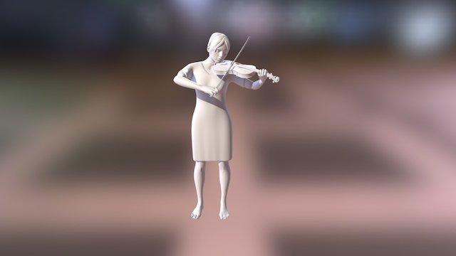 Violin Player 3D Model