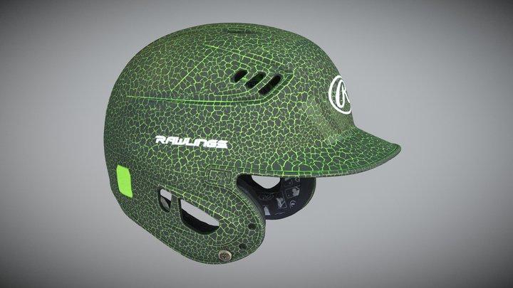 Green Baseball Helmet 3D Model