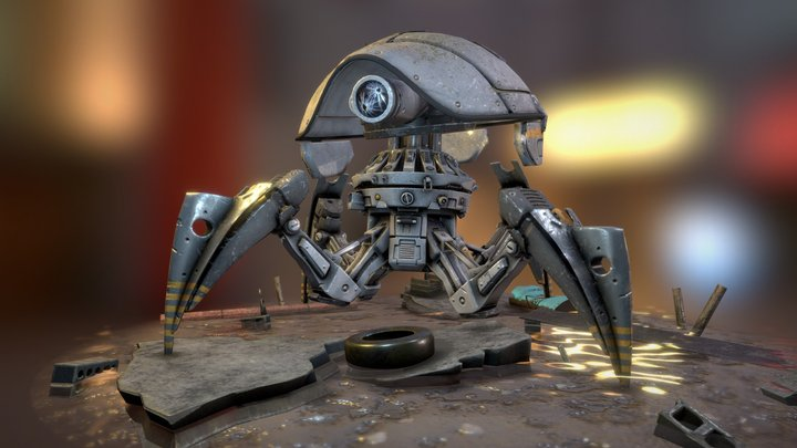 Discarded Robot 3D Model