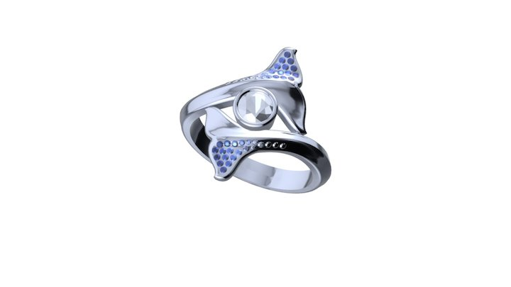 1606- Whale Ring 3D Model