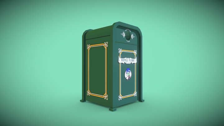 Haunted Mansion Recycle Bin