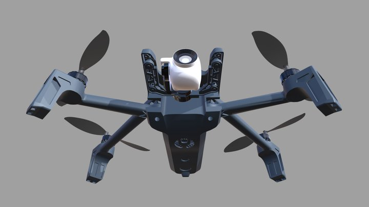 Parrot-Anafi drone 3D Model