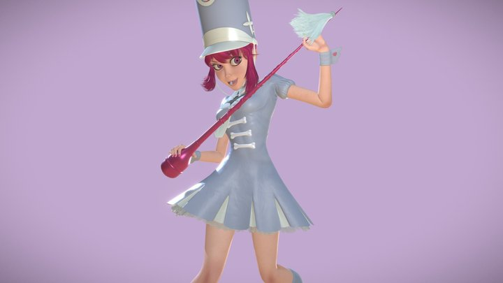 Nonon in Uniform 3D Model