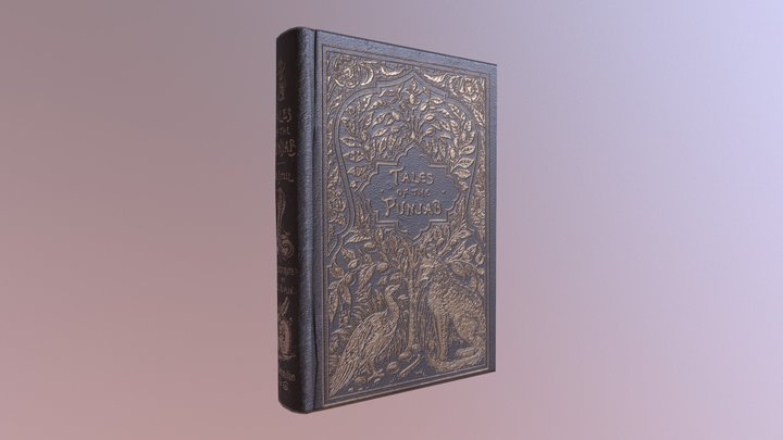 Victorian Book: Closed 3D Model