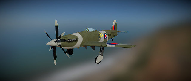 MB5 Martin Baker 3D Model