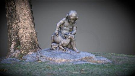 Small Rio Garden Statue 3D Model