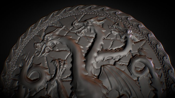 House Targaryen 3D Model