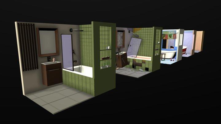 Strange Bathrooms 3D Model