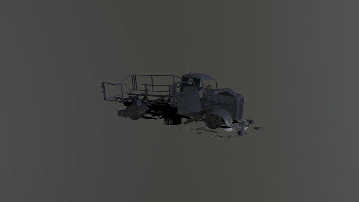 Broken Car opel Blitz 3D Model