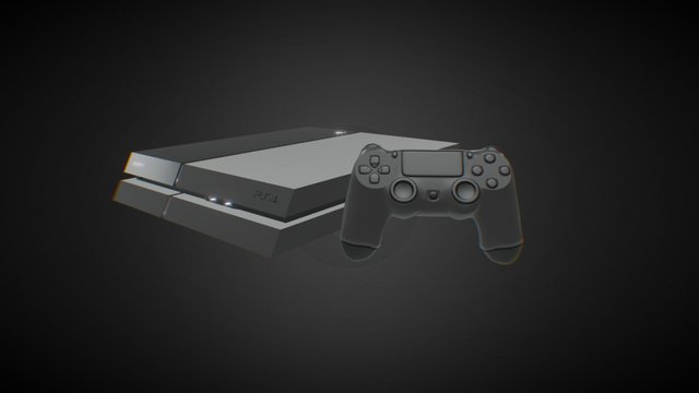 PlayStation 4 3D Model