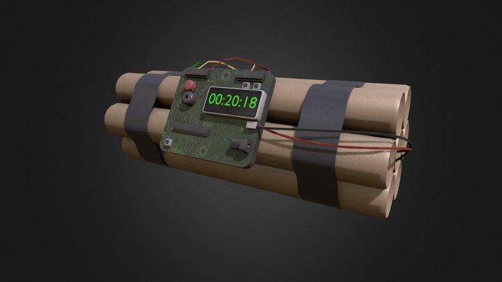Simple C4- Bomb 3D Model