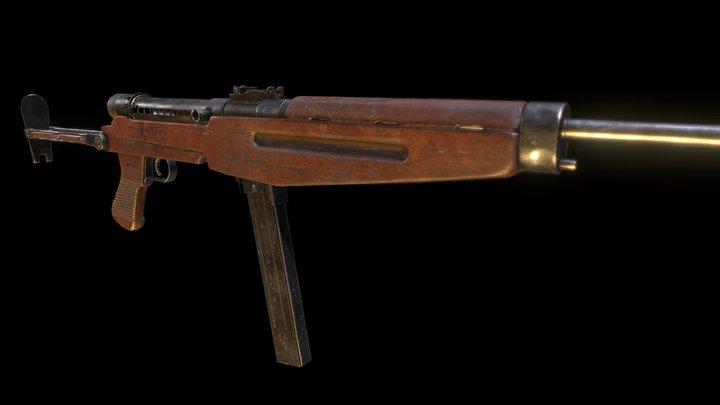 43M Machinegun 3D Model