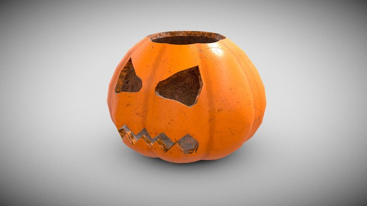 Spooky Pumpkin 3D Model