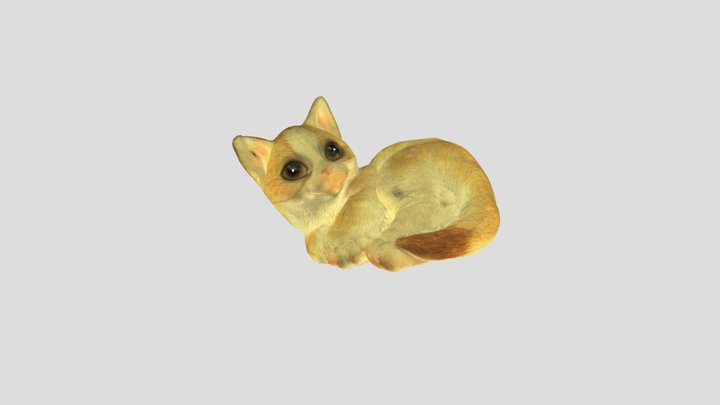 置物(猫) 3D Model