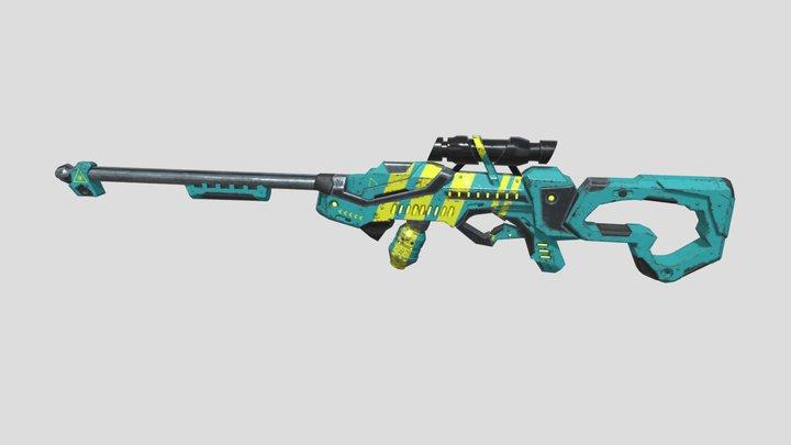 Rifle Sci-Fi 3D Model