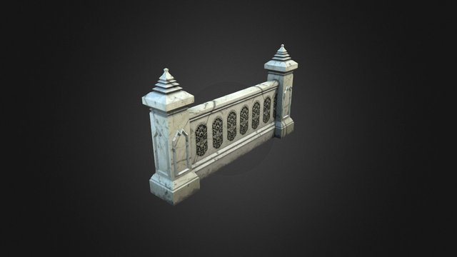 Stone Fence 3D Model