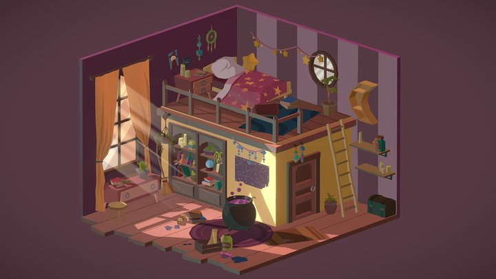 The Witch Room 3D Model