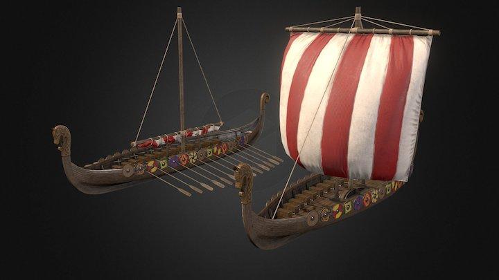 Viking Drakkar 3D Model