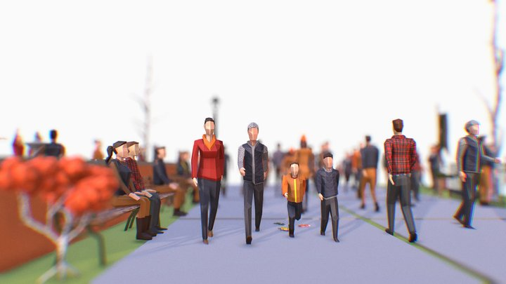 Autumn People Pack 3D Model