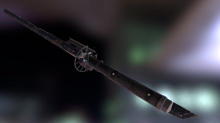 Tactical Sword 3D Model