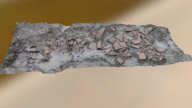 Romeinse dakpannen 3D Model