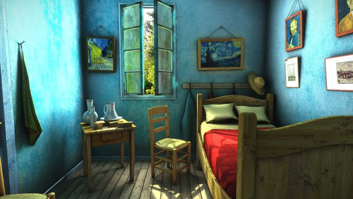 Camera Limits Demo: Van Gogh - Bedroom in Arles 3D Model