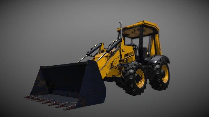 Generic Front Loader/BackHoe 3D Model