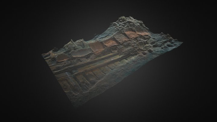 Gnalic shipwreck gridded point cloud. 3D Model