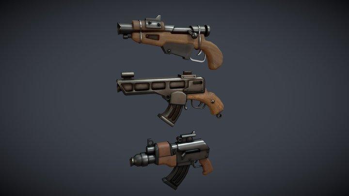 Squash Guns 3D Model