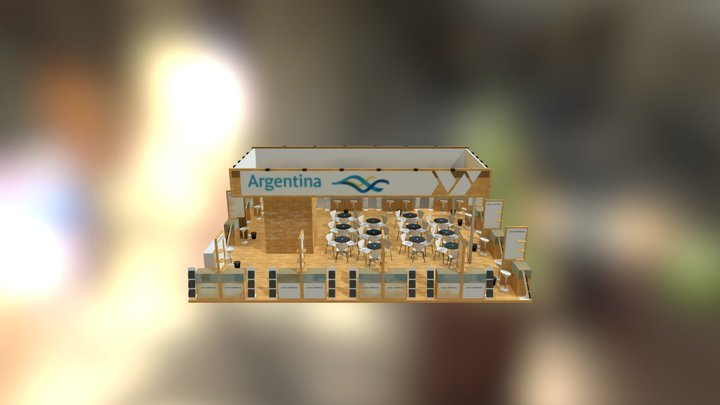 STAND ARGENTINA - EXPO ALIMENTARIA 2015 3D Model