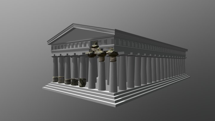 METAPONTO - Tempio A 3D Model