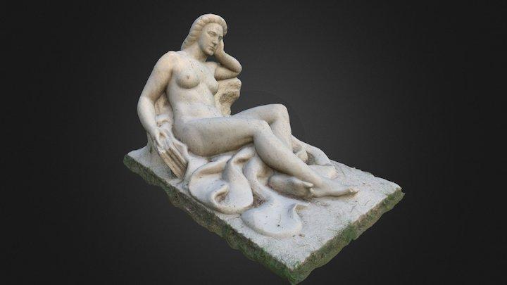 Parque del Buen Retiro - Estatua Tumbada 3D Model