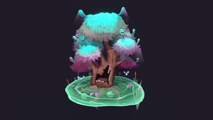 Stylised Tree - Spirit Tree - CGMA 3D Model