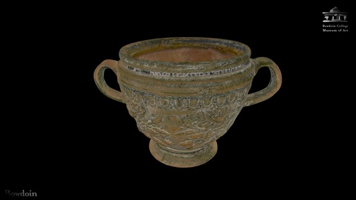 Two-Handled Relief Cup 3D Model