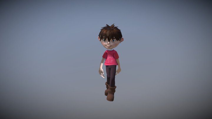 Boy Animation Loops 3D Model