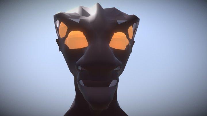 Low Poly Alienhead 3D Model