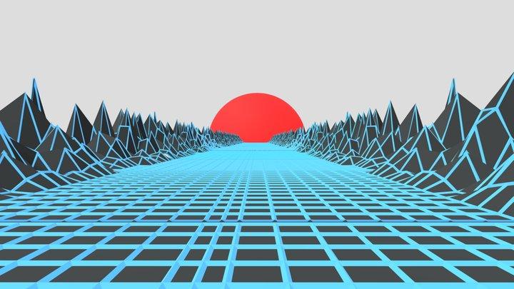 Scifi landscape 3D Model